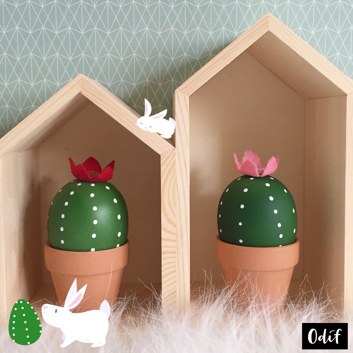 Photo : DIY - Cacti Easter eggs