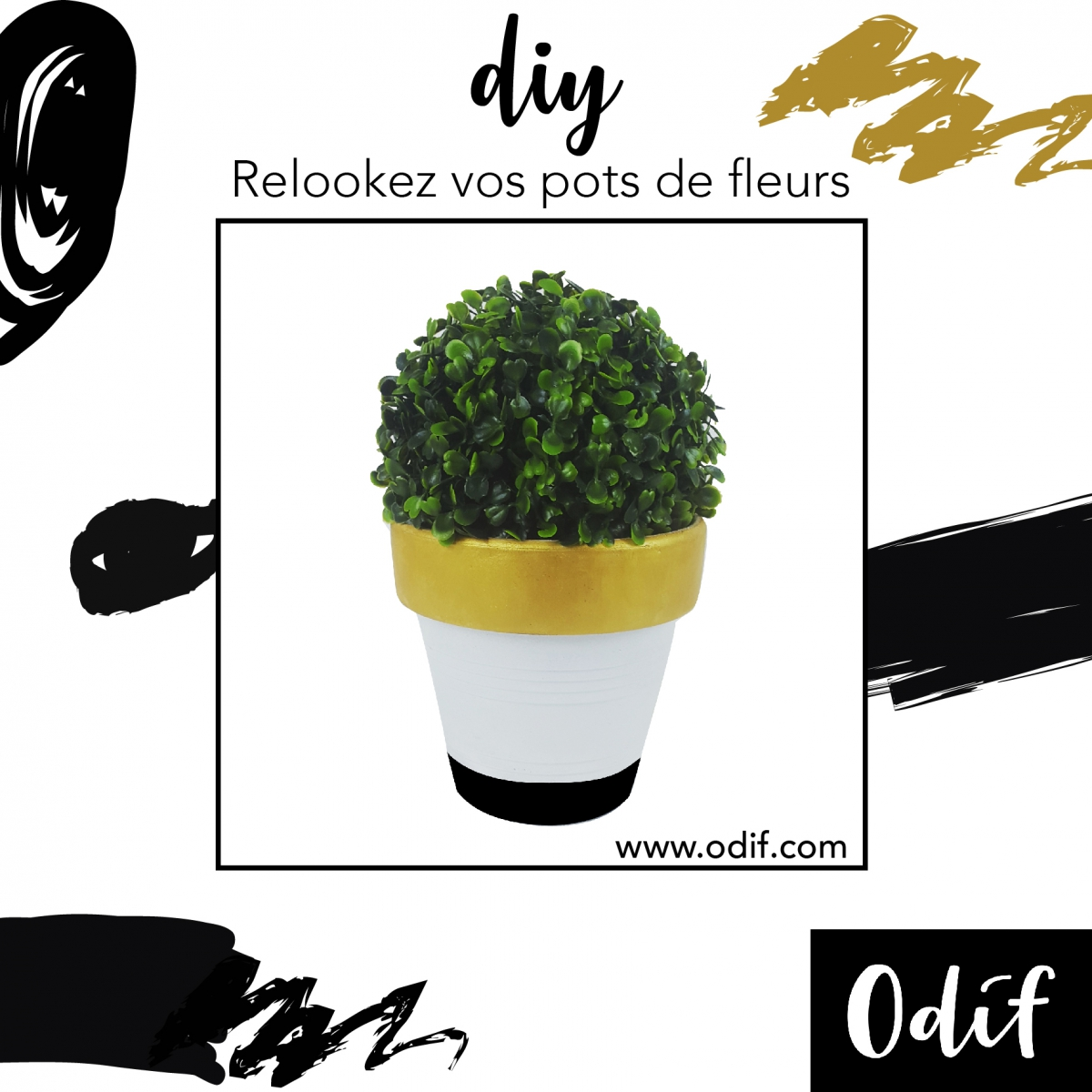 Photo : DIY - Customise your flower pots