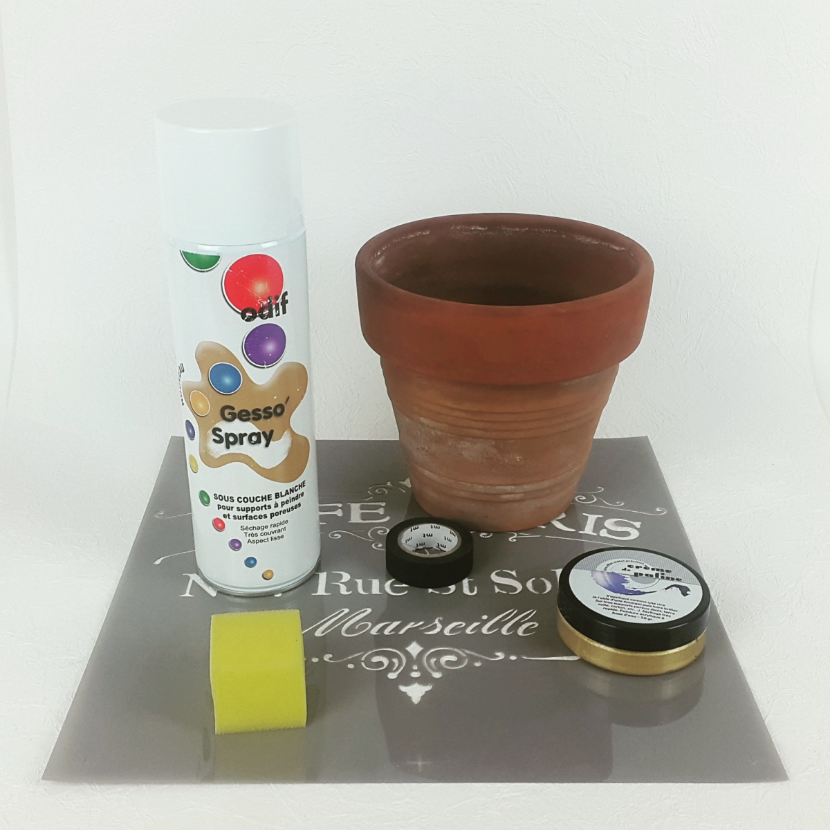 Material : DIY - Customise your flower pots