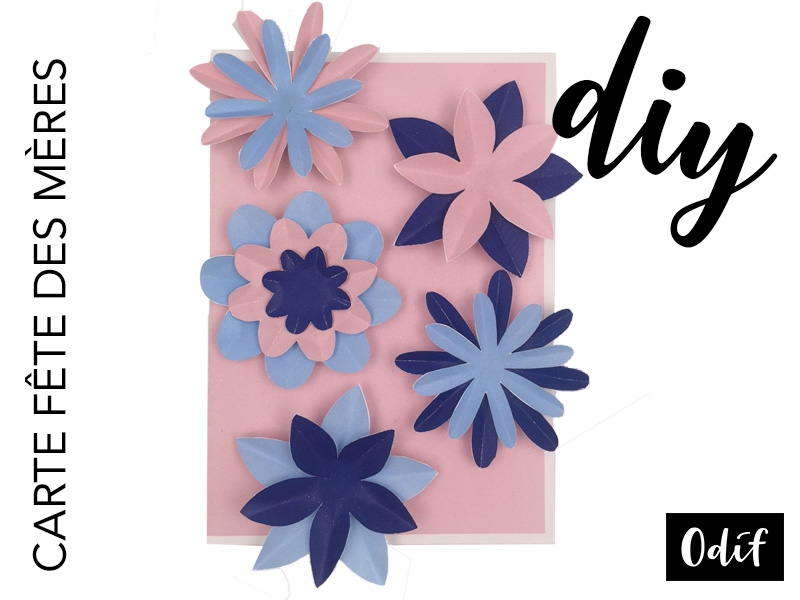Photo : DIY - Mother's Day flower card