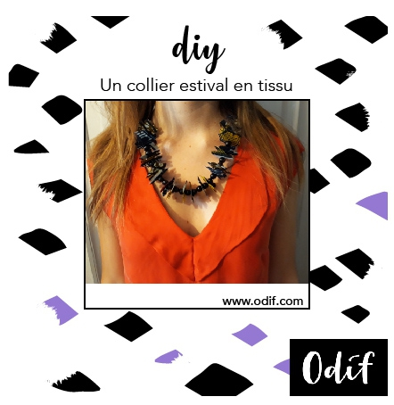 Photo : DIY - Fabric Necklace